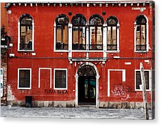 Venetian Architecture Acrylic Print by John Rizzuto