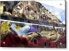 Venetian Carnival Reflections Acrylic Print
