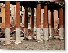 Venetian Columns Acrylic Print by Art Ferrier