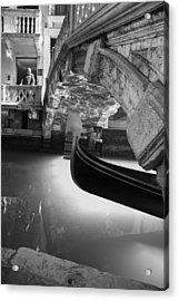 Acrylic Print featuring the photograph Venetian Daily Scene by Yuri Santin