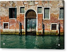 Venetian House On Canal Acrylic Print