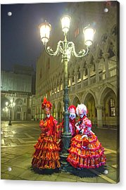 Venetian Ladies In San Marcos Square Acrylic Print