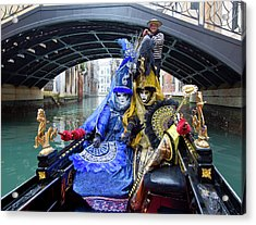Venetian Ladies On A Gondola Acrylic Print