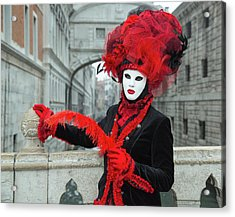 Venetian Lady At The Bridge Of Sighs Acrylic Print