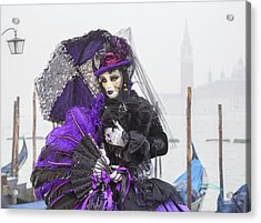 Venetian Lady In Purple Acrylic Print