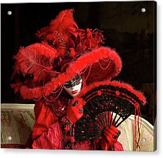 Venetian Lady In Red I  Acrylic Print