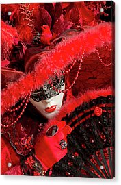 Venetian Lady In Red II  Acrylic Print