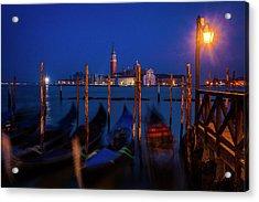 Acrylic Print featuring the photograph Venetian Lagoon At Twilight by Andrew Soundarajan