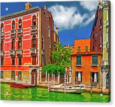 Acrylic Print featuring the photograph Venetian Patio by Juan Carlos Ferro Duque