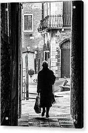 Venetian Silhoutte Lady Acrylic Print