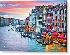 Venetian Sunset Acrylic Print