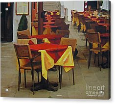 Venetian Tables Acrylic Print by Italian Art