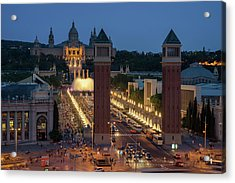 Venetian Towers And National Palace In Barcelona Acrylic Print