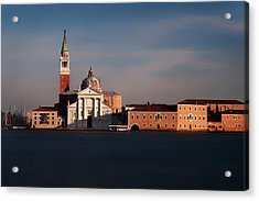 Acrylic Print featuring the photograph Venetian View At Dusk by Andrew Soundarajan
