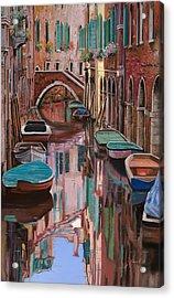 Venezia A Colori Acrylic Print by Guido Borelli