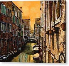 Venezia Al Tramonto Acrylic Print by Guido Borelli