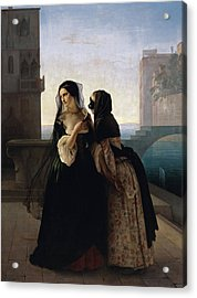Acrylic Print featuring the painting Vengeance Is Sworn by Francesco Hayez