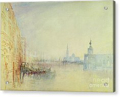 Venice - The Mouth Of The Grand Canal Acrylic Print by Joseph Mallord William Turner