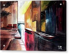 Acrylic Print featuring the painting Venice 1 by Anil Nene