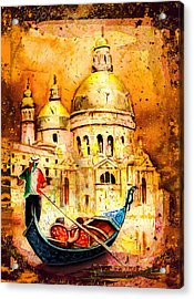 Venice Authentic Madness Acrylic Print by Miki De Goodaboom
