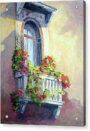 Venice Balcony Acrylic Print