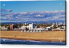 Venice Beach In Fall Acrylic Print