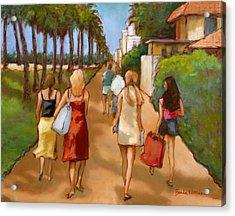 Venice Beach Promenade Acrylic Print by Brenda Williams