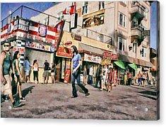 Venice Beach Walk Acrylic Print