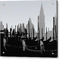 Venice Black And White Acrylic Print