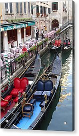 Venice Boats Acrylic Print by Nina Simeonova