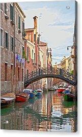 Venice Bridge Crossing 5 Acrylic Print by Heiko Koehrer-Wagner