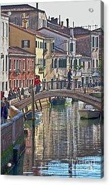 Venice Bridge Crossing 6 Acrylic Print by Heiko Koehrer-Wagner