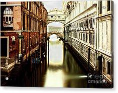 Venice Bridge Of Sighs Acrylic Print