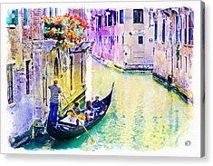 Venice Canal Acrylic Print by Marian Voicu