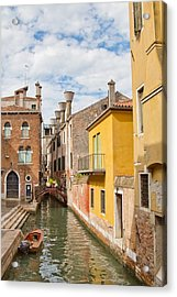 Acrylic Print featuring the photograph Venice Canal by Sharon Jones