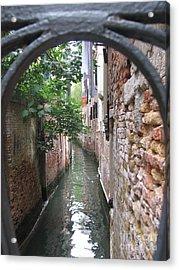 Venice Canal Through Gate Acrylic Print