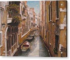 Venice-canale Veneziano Acrylic Print by Italian Art
