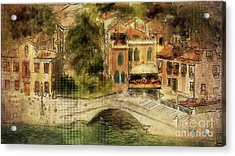 Venice City Of Bridges Acrylic Print by Lois Bryan