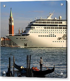 Venice Cruise Ship 2 Acrylic Print by Andrew Fare