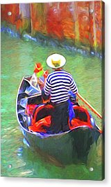 Venice Gondola Series #3 Acrylic Print by Dennis Cox