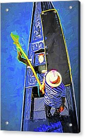 Venice Gondola Series #4 Acrylic Print by Dennis Cox