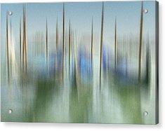 Venice Gondolas Impression 1 Acrylic Print by Marty Garland