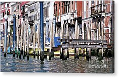 Acrylic Print featuring the photograph Venice Grand Canal by Allen Beatty