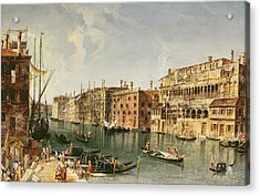 Venice, Grand Canal And The Fondaco Dei Turchi  Acrylic Print
