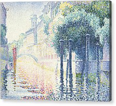 Venice Acrylic Print by Henri-Edmond Cross