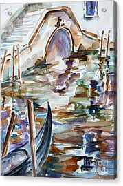 Acrylic Print featuring the painting Venice Impression I by Xueling Zou