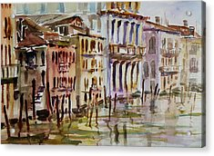 Acrylic Print featuring the painting Venice Impression II by Xueling Zou