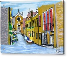 Acrylic Print featuring the painting Venice In September by Rod Jellison