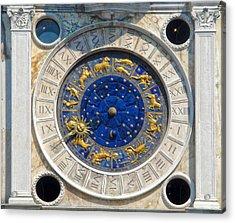 Venice Italy - St.mark's Clock Tower Acrylic Print