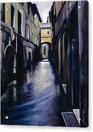 Venice Acrylic Print by James Christopher Hill